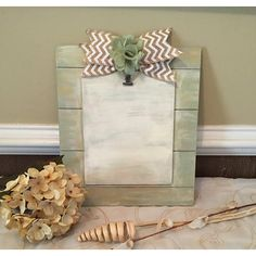 Cottage Chic Picture Frame ($25) ❤ liked on Polyvore featuring home, home decor, frames, clip frames, flower home decor, 5x7 picture frames, painted picture frames and wedding wreath