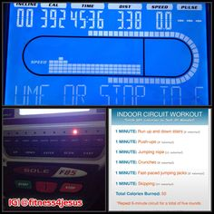 4/2/14: 3 miles on treadmill + indoor circuit