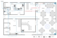 Restaurant Network Layout Floor Plan Restaurant Floor Plan Floor Plans Floor Plans Online
