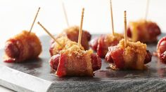 Little Smokies Wrapped in Bacon Recipe Party Snacks, Appetizers For Party, Appetizer Recipes, Snack Recipes, Cooking Recipes, Bacon Appetizers, Cooking Tips, Little Smokies Recipes, Bacon Wrapped Little Smokies
