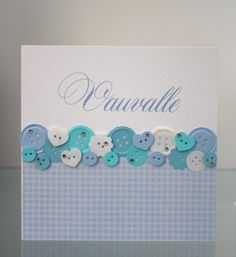 DIY: Onnittelukortti vauvalle paperinapeilla ja kristalleilla / Greeting card for a new baby with paper buttons and crystals