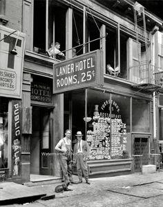 Vintage Historic New York City Hotel Rooms Vaudeville Restaurant Sign 1921 Photo