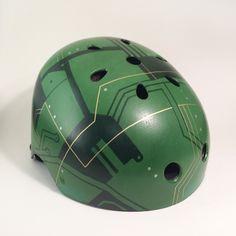 Circuit Board Bike Helmet from Inkwell Helmets