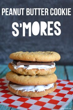 Peanut Butter Cookie Smore! Seriously SUCH a delicious cookie idea for summer! -- Tatertots and Jello