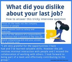 "How to answer typical interview questions including ""What do you like and dislike most about your job?"" How to answer interview questions about your last job. Typical Interview Questions, Job Interview Answers, Job Interview Preparation, Interview Skills, Job Interview Tips, Job Interviews, Interview Outfits, Job Hunting Tips, Job Help"