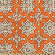 Joel Dewberry Heirloom Tile Flourish Amber  Item Number: EM-274  Our Price: $8.98 per Yard  Compare At: $9.99 per Yard