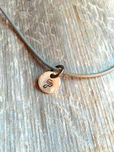 Boys Leather Necklace Boy Valentine Gift by SentimentalSilver4U
