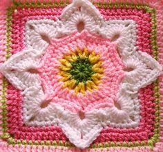 Coisas da Léia: Quadrados de Crochê (Square)