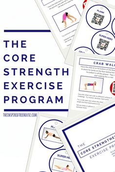 The Core Strengthening Exercise Program - The Inspired Treehouse: A comprehensive and innovative core strengthening program for kids (and adults!)  Featuring QR codes with video demo of each activity.