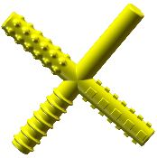 Chew Stixx® Lemon Flavored Chewable Textured Fidget - Due to the alternating textures of this product, it is an excellent chewable hand fidget for children craving sensory input, and the input received from destructive oral motor grinding. The textures of this product were designed by therapists to simulate the ever changing textures of food, therefore assisting with children who have sensory issues when certain textures are placed in their mouth.