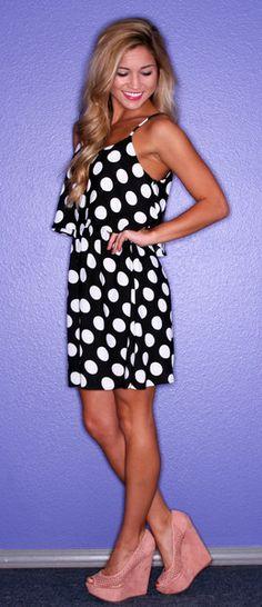 love polka dots and black & white