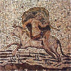 """Mosaico """"El rapto de Europa"""". Mediados del S. II d.C.  M.N.A.R. (Museo Nacional de Arte Romano). Mérida, Badajoz, España."""