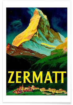 switzerland als Premium Poster von Robert Livingston   JUNIQE