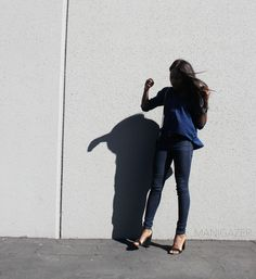 Minimal outfit | Blue jeans + denim shirt by African and Parisian fashion blogger Iman. Click through to find out where to shop this look! http://www.manigazer.com/blue-jeans-denim-shirt/  #denim #minimal #fashion #style #blogger #outfit #african #parisian