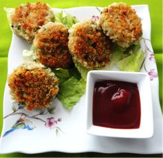Soni's Food for Thought: Indian Spiced Quinoa Patties/Cutlets - I'll make it with edamame and serve with tamarind chutney!