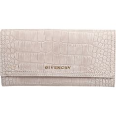 Givenchy Croc-Stamped Pandora Continental Wallet