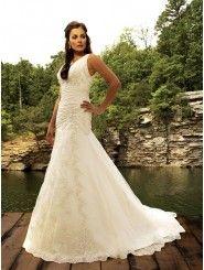 Taffeta Dramatic V-shaped Neckline Ruched Bodice A-line Wedding Dress