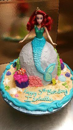 Mermaid doll cake, little mermaid, ariel