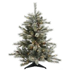 3.5' Vickerman A111436LED Frosted Sartell - Frosted Christmas Tree