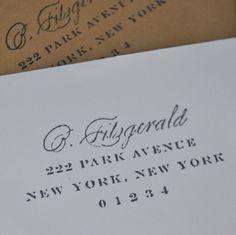 Return Address Stamp from toastandlaurel.com. I love this website!