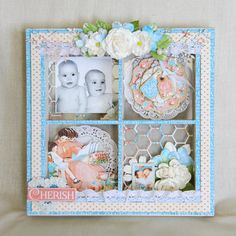 Precious Memories Ivory Wooden Shadow Box perfect for a nursery, baby shower or a fun keepsake to grow old with.  Home Decor with @Graphic45
