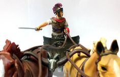 Legionario sulla biga della BBI (Blue Box Toys). #Miniatures #Figures #AncientRome