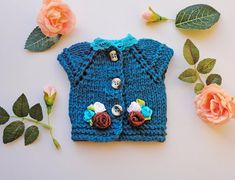 Doll's cardigan/ knitted cardigan/ clothes for Waldorf