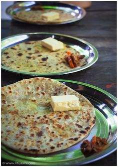 Alu Parathas with butter
