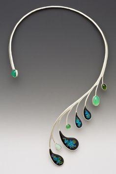 "Lisa Hawthorne ""peacock"" necklace"