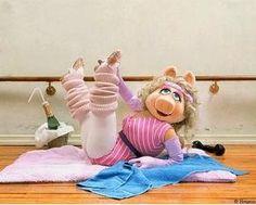 Miss Piggy | #1980s Style | Retro | Fashion-so 80s aerobic-jane fonda workout phase!!! Long live the muppets, go Miss Piggy!