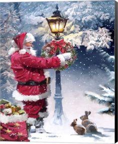 Richard Macneil - Christmas Past Christmas Scenes, Noel Christmas, Vintage Christmas Cards, Christmas Pictures, Winter Christmas, Father Christmas, Christmas Decor, Christmas Wreaths, Illustration Noel
