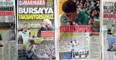 Bursaspor düşebilir: Yerel basın çok öfkeli