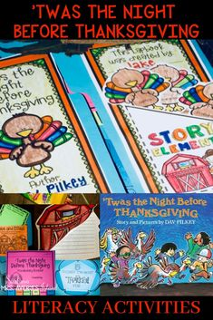Twas the Night Before Thanksgiving by Dav Pilkey - Thanksgiving read alouds for elementary kids are a fun way to combine holiday activities with reading standards.  These engaging activities for Thanksgiving are perfect for 1st, 2nd, and 3rd grades and include no-prep printables to teach story elements, cause and effect, plot, vocabulary, and writing skills.  If you are wanting some fun activities for kids guaranteed to increase your students reading comprehension skills, click here! #reading