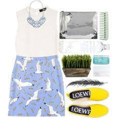 Happy Colors by makica-brate on Polyvore featuring Nicholas, Loewe, McQ by Alexander McQueen, Forever New, NARS Cosmetics, H2O+, Cool Shit, white, yellow and Blue