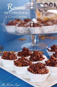 Mis Dulces Joyas: Rocas de Corn Flakes y chocolate - sin gluten