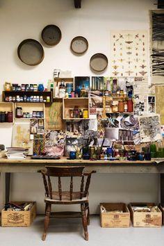 55 Trendy Home Office Design Inspiration Art Studios Home Art Studios, Studios D'art, Art Studio At Home, Artist Studios, Craft Studios, Design Studios, Music Studios, Home Office Design, House Design