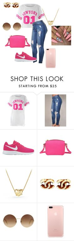 """""""Team 01"""" by rayonna-ray ❤ liked on Polyvore featuring NIKE, Sophie Hulme, David Yurman, Chanel and Victoria Beckham"""