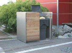 m lltonnenbox classic aus fsc hartholz f r 120 240 liter abfalltonnen komplettes edelstahl. Black Bedroom Furniture Sets. Home Design Ideas
