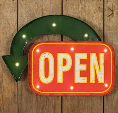 Open Marquee Wall Sign - *FREE SHIPPING*