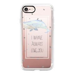 I WHALE ALWAYS LOVE YOU BY VIE DE VIC - iPhone 7 Case, iPhone 7 Plus... ($40) ❤ liked on Polyvore featuring accessories, tech accessories, iphone case, apple iphone case, iphone hard case, iphone cover case and iphone cases