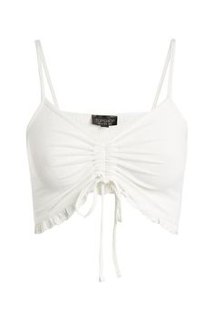 Ruched Frill Bralet - Clothing- Topshop