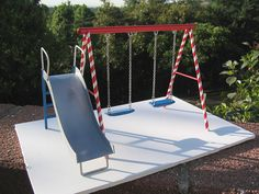 miniature swing set by Randy Hage, via Flickr