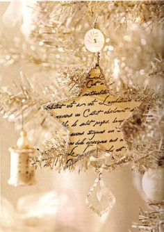 Darling script star ornament with instructions and appears in the newest issue of BHG.