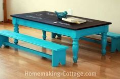 Love this idea for an old coffee table for the kids to draw and play on.
