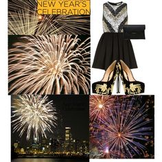 """""""NEW YEAR'S CELEBRATION GOLD"""" by mariemery on Polyvore"""