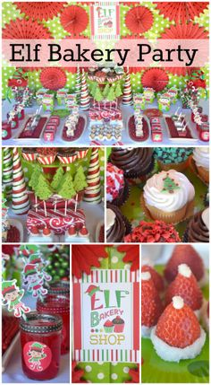 Here's a kids' Christmas party for a bunch of cookie decorating elves! See more party ideas at CatchMyParty.com. #partyplanning #holidays #christmas #elf