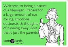 A little humor for parents of teenagers because This shit is hard, fo real