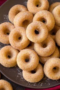 Baked Cinnamon Sugar Mini Donuts - Cooking Classy