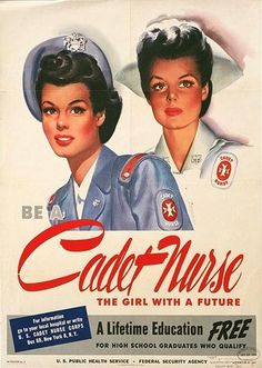 WWII posters enlisting nurses