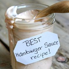Best Burger Sauce Recipe from RecipeGirl.com #best #burger #hamburger #burgers #hamburgers #sauce #recipe #RecipeGirl Best Hamburger Sauce Recipe, Good Burger Sauce Recipe, Best Burger Sauce, Burger Sauces Recipe, Hamburger Recipes, Beef Recipes, Easy Recipes, Best Enchilada Sauce, Recipes With Enchilada Sauce